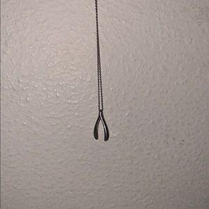 Wishbone necklace Blue Nile